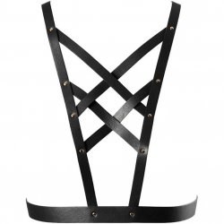 Bijoux Indiscrets: Maze Cross Cleavage Harness - Black Sex Toy
