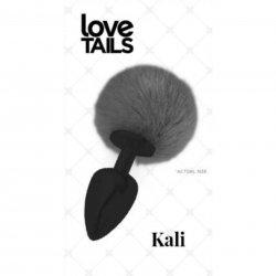Love Tails: Kali Black Plug with Black Pom Pom - Medium Sex Toy