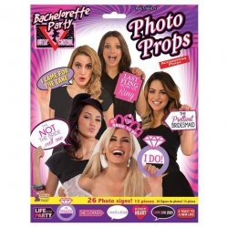 Bachelorette Party Photo Props - 26 Photo Signs
