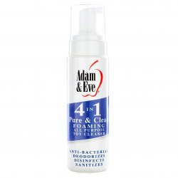 Adam & Eve 4 In 1 Pure And Clean Foaming All Purpose Toy Cleaner - 8 oz Sex Toy