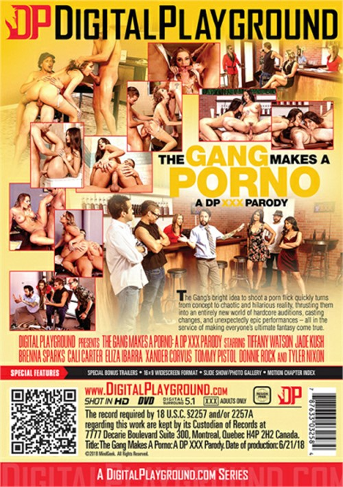 Back cover of The Gang Makes A Porno: A DP XXX Parody