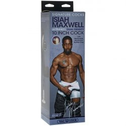 """Signature Cocks - Isiah Maxwell 10"""" ULTRASKYN Cock with Removable Vac-U-Lock Suction Cup"""