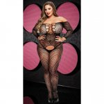 Lapdance Black VIP Longsleeve Crotchless Bodystocking - Queen Sex Toy