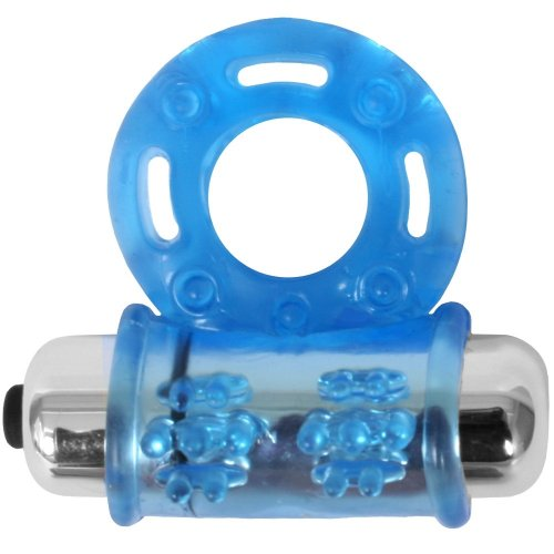 Stay Hard Vibrating Bull Ring - Blue Sex Toys  Popporn-2821