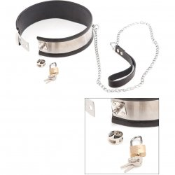 Rapture: Steel Band Leashed Collar - Small Sex Toy