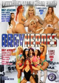 Orgy Heroes DVD porn movie from Lexington Steele Media Group.