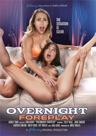 Overnight Foreplay porn video from Girlsway.