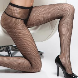 Coquette Fishnet Pantyhose - Black - O/S Sex Toy