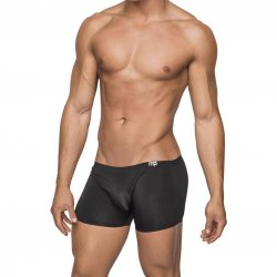 Male Power: Seamless Sleek Short w/ sheer pouch - Black - Small Sex Toy