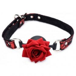 Master Series Silicone Ball Gag With Rose