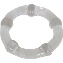 Cocky Boys Glass Cockring - Clear