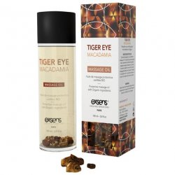 EXSENS of Paris Organic Massage Oil w/Stones - Tiger Eye Macadamia Sex Toy