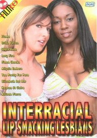 Interracial Lip Smacking Lesbians image