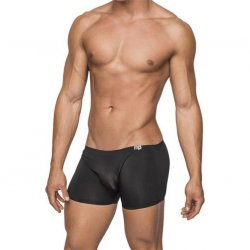 Male Power: Seamless Sleek Short w/ sheer pouch - Black - Large Sex Toy