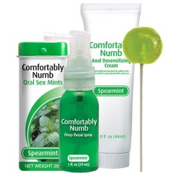 Comfortably Numb Pleasure Collection - Spearmint lubricant from Pipedream.