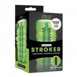 Zolo Original Stroker - Squeezable Vibrating Stroker - Green Sex Toy