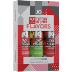 Jo Tri Me Lube Triple Pack - The Flavors