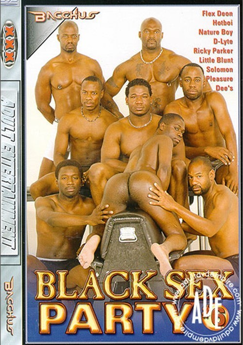 Black gay party porn