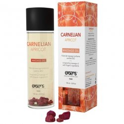 EXSENS of Paris Organic Massage Oil w/Stones - Carnelian Apricot Sex Toy