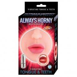 Always Horny Vibrating Tongue & Teeth Mouth Masturbator Sex Toy