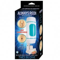 Always Redi Pussy & Ass Masturbator with Suction Cup Base