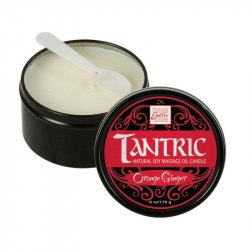 Tantric Natural Soy Massage Candle - 6oz - Orange Ginger Sex Toy