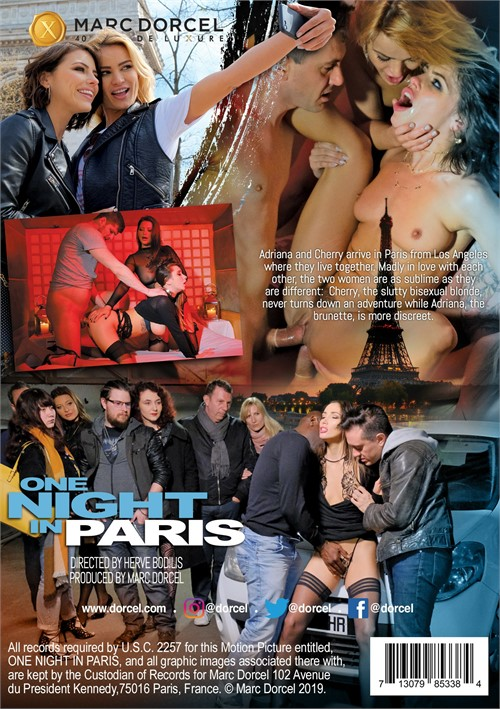 Back cover of One Night In Paris