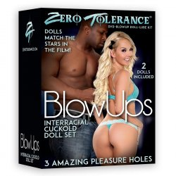 Zero Tolerance Blow Ups - Interracial Cuckold Doll with DVD & Lube Sex Toy