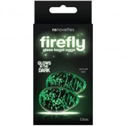 Firefly Glass Glow In The Dark Kegel Eggs - Clear