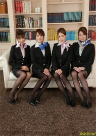 Cabin Attendant GangBang Room Eika Ichinose, Kotori Shirayuki, Mio Oozora, Rena Mizuhara image