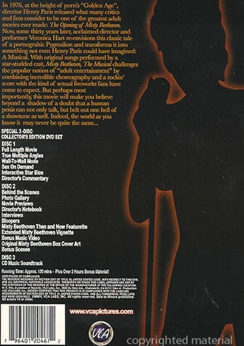 Back cover of Misty Beethoven: The Musical
