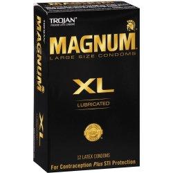 Trojan Magnum XL Condoms - 12-Pack