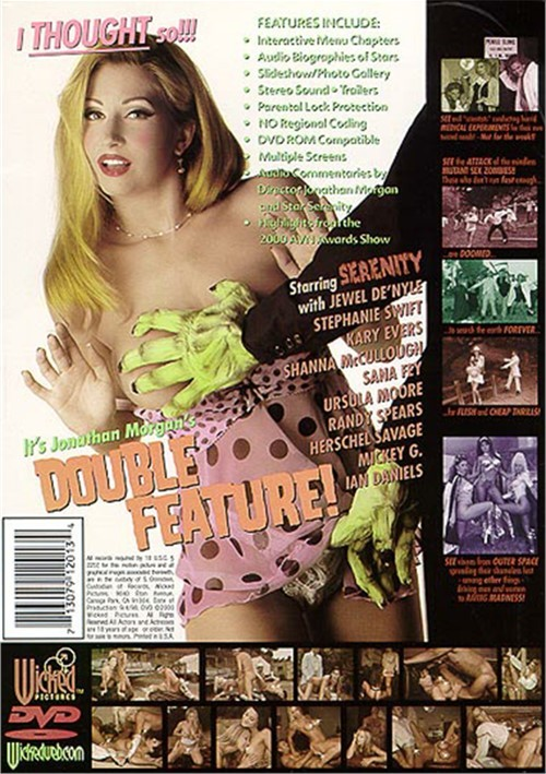 Back cover of Double Feature!