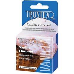 Trustex Condoms - Vanilla - 3 pk