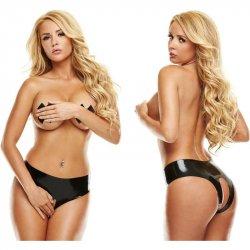 Latexwear: Premium Latex Crotchless Panty - Black - M/L