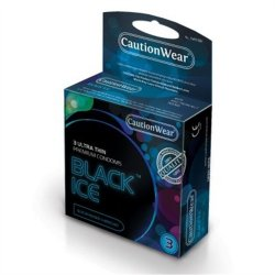 Caution Wear: Black Ice Ultra Thin - 3 Pack Sex Toy