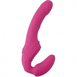 Eves Vibrating Strapless Strap On - Pink Sex Toy