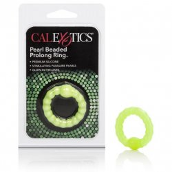 Prolong Pearl Beaded Cock Ring - Green