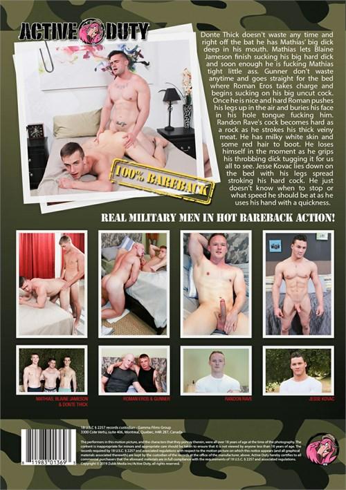 Bareback Army Grunts 05 Cover Back