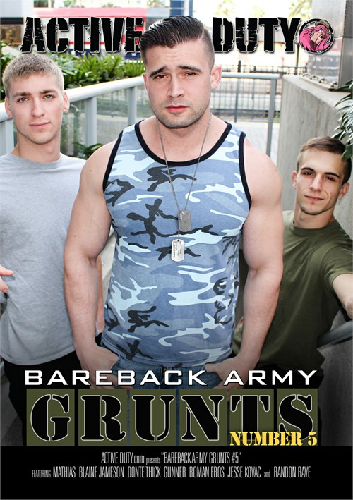 Bareback Army Grunts 05 Cover Front