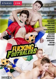 Fucking Footballers gay porn DVD from Staxus