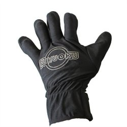 Fukuoku: 5 Finger Left Hand Massage Glove - Black Sex Toy