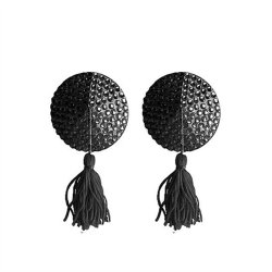 Ouch! Nipple Tassels - Round - Black