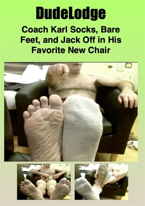 Coach Karl Socks, Bare Feet, and Jack Off in His Favorite New Chair Boxcover