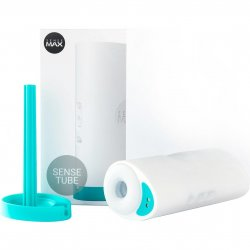SenseMax SenseTube Vibrating Masturbator With VR Compatibility - White sex toy from SenseMax.