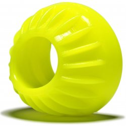 "Ox Balls Turbine 1.75"" Silicone Cock Ring - Acid Yellow Sex Toy"