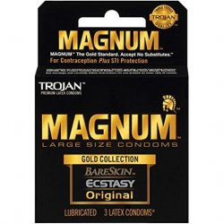Trojan Magnum Gold Collection Large Size Condom - 3 pack Sex Toy
