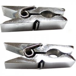 Rouge Metal Nipple Clamps - Clamshell Silver Sex Toy