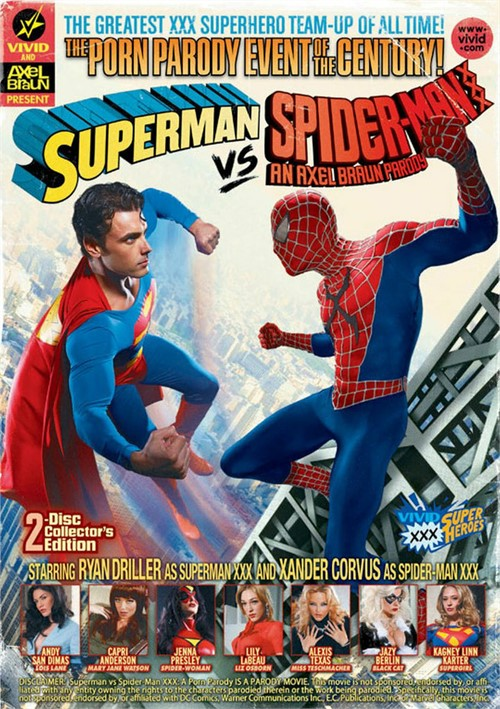 Superman vs Spider-Man XXX: A Porn Parody  Boxcover