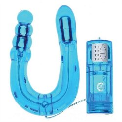 U Send Me Double Vibrating Stimulator- Blue Sex Toy